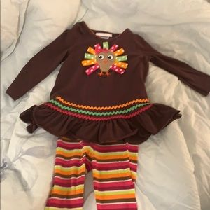 Very Good Condition Baby Girl Thanksgiving Outfit
